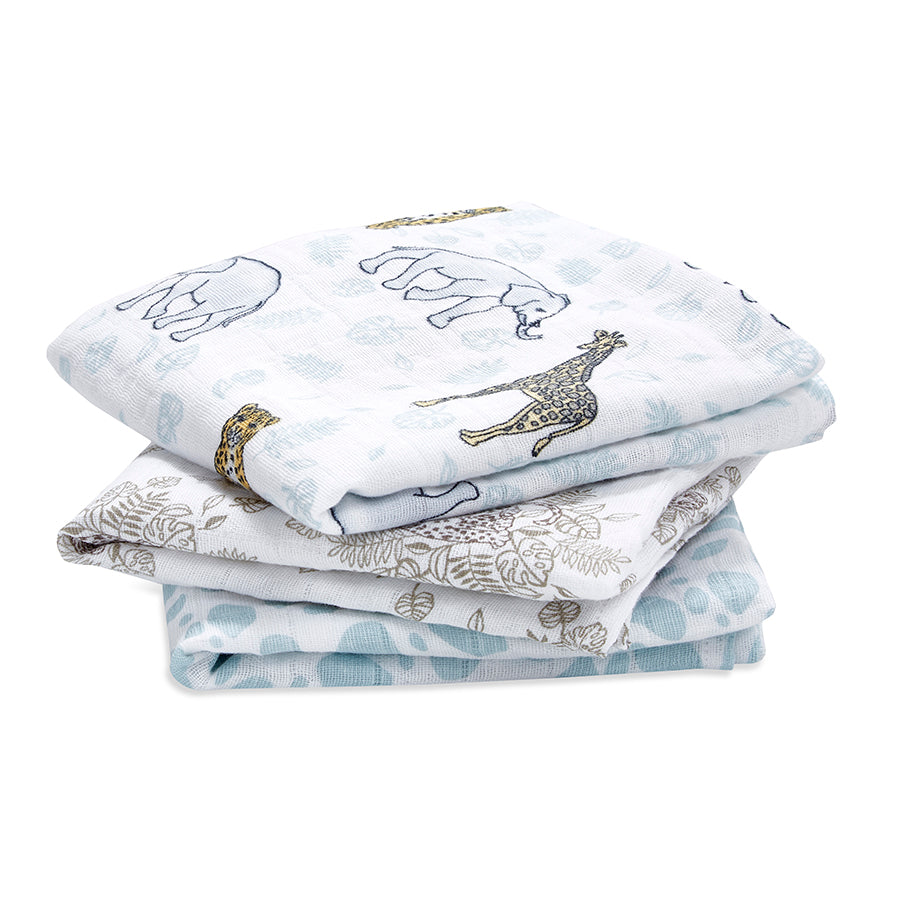 Aden & Anais - Jungle 3 Pack Muslin Squares