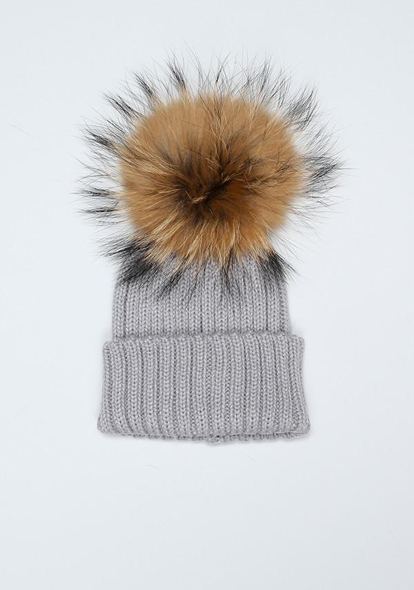 Bobble Babies - Single Pom Pom Hat Light Grey - Baby at the Bank