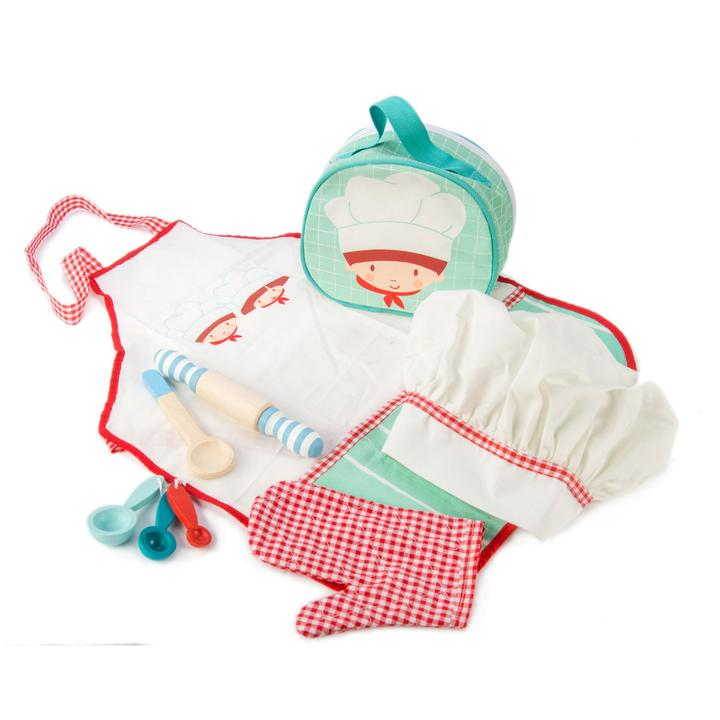 tenderleaf-chefs dress up set-baby at the bank