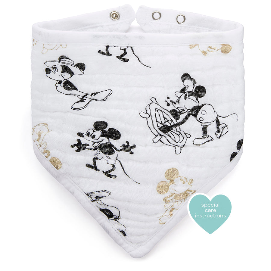 Aden and Anais Mickey's 90th Disney Classic Bandana Bib - Baby at the Bank
