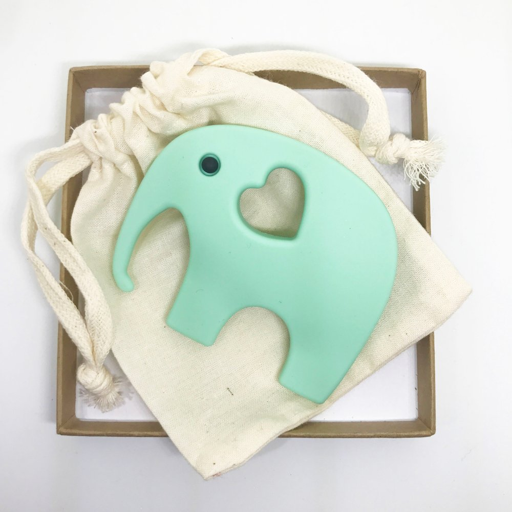 For Mama And Baba - Elephant Teether - Baby at the Bank