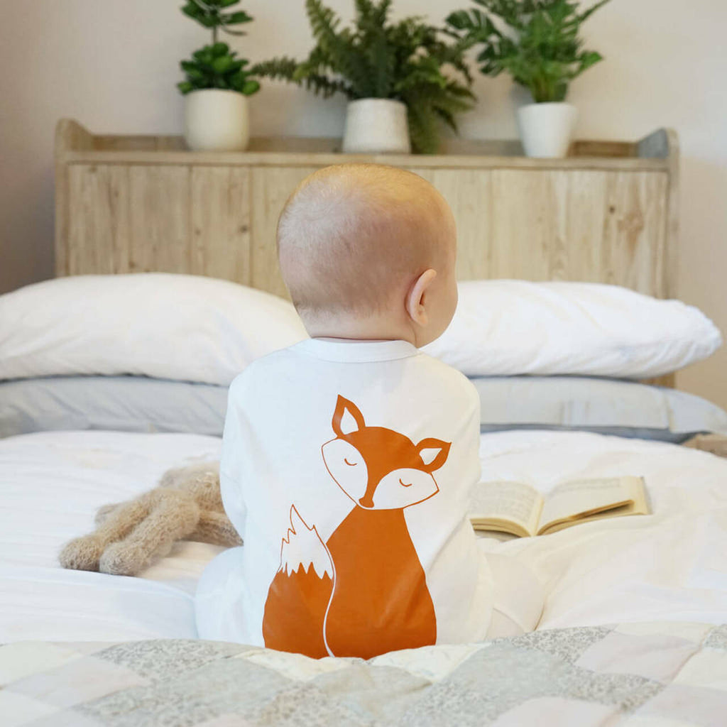 Sparks and Daughter- Fox Baby Sleepsuit