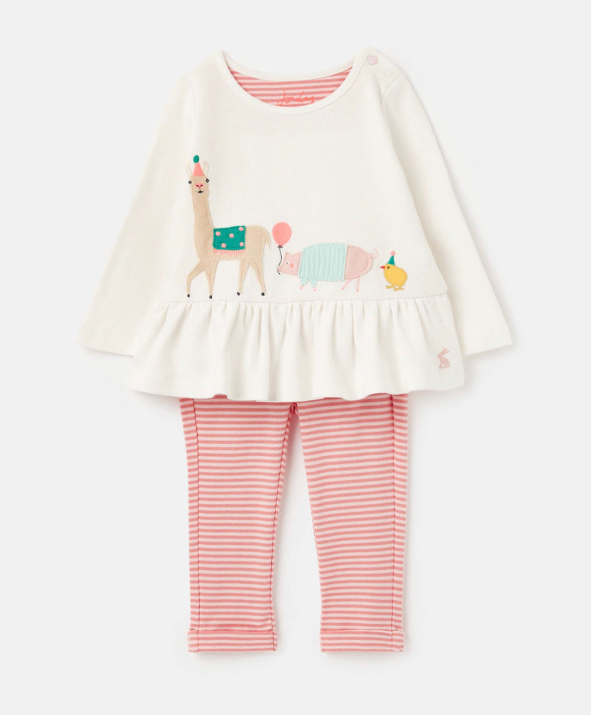 Joules - Applique Set White Animals