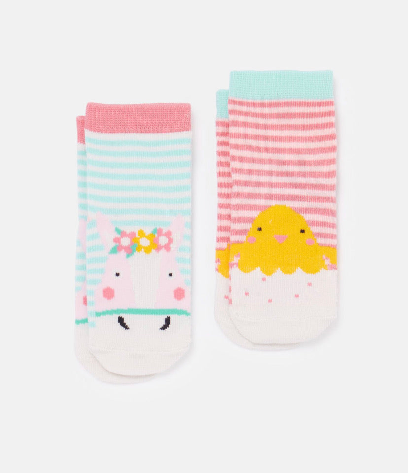 Joules - Neat Feet Horse/Chick Socks