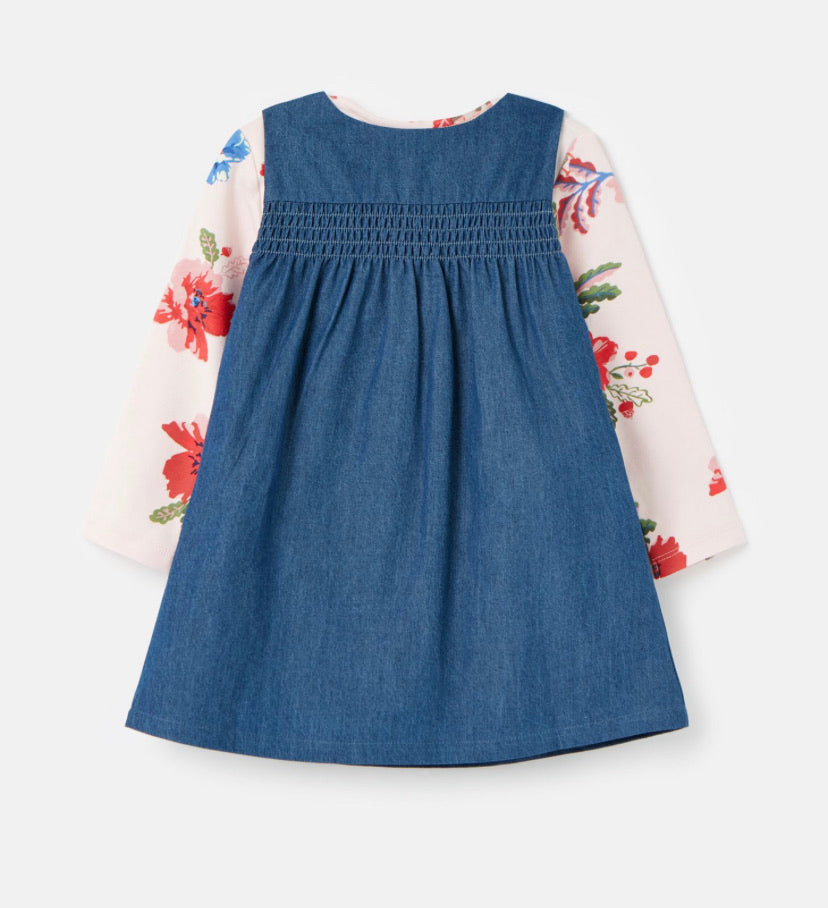 joules-peter rabbit pinafore-baby at the bank