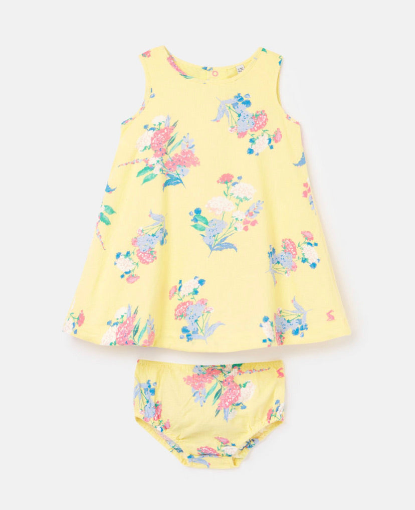 Joules - Bunty Yellow Floral Dress Set