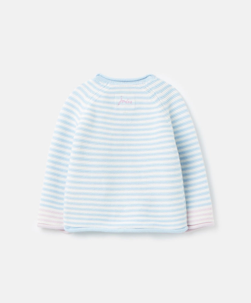 Joules - Winnie Knitted Jumper Blue Unicorn