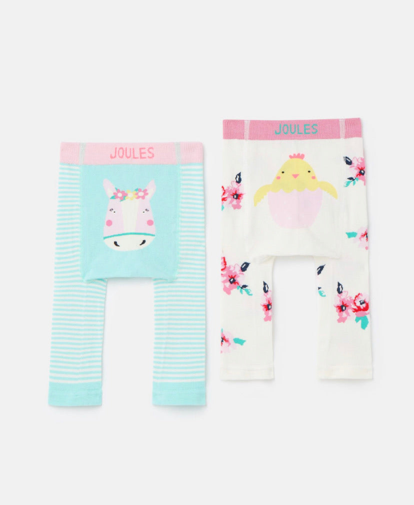 Joules - Lively Knitted Leggings Chick/Horse