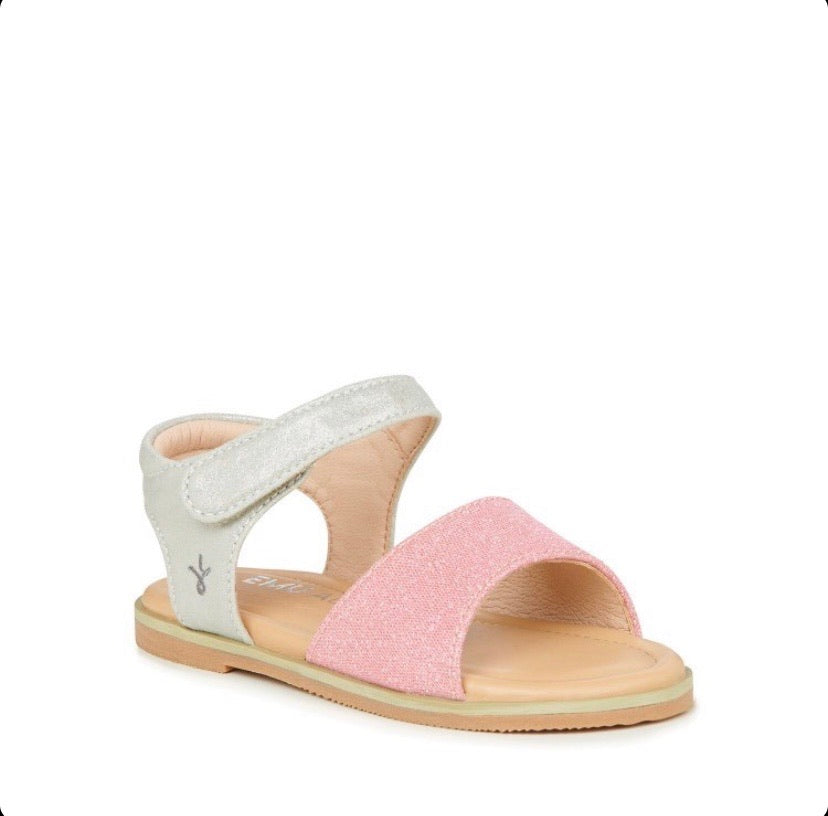 emu-ainslie pink sandal-baby at the bank