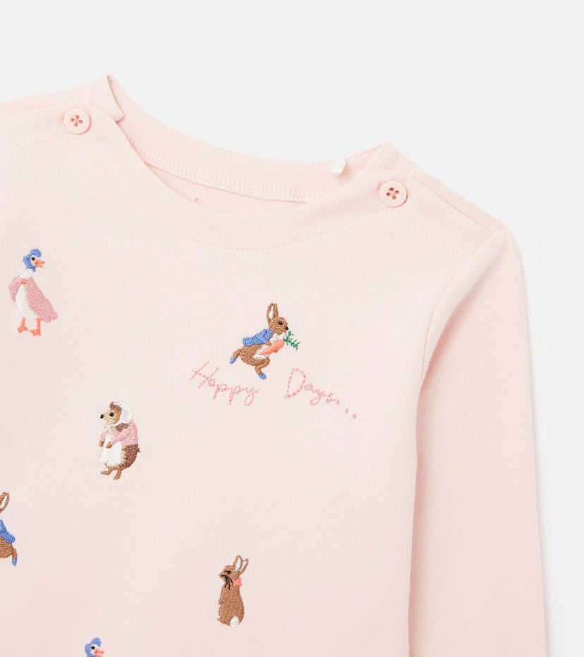 Joules- Peter rabbit Harriet artwork top- pink