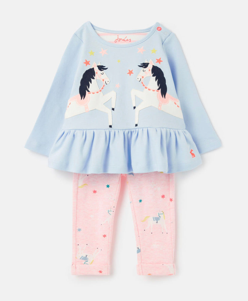 Joules - Applique Set Blue Unicorn