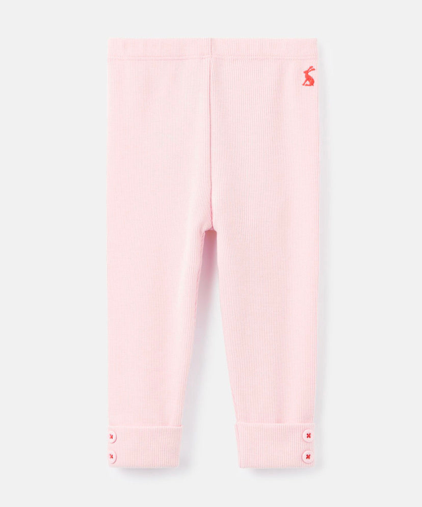 Joules- Lula ribbed leggings pink