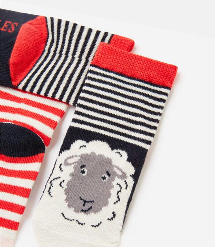 Joules - Neet Feet Socks Cow / Sheep