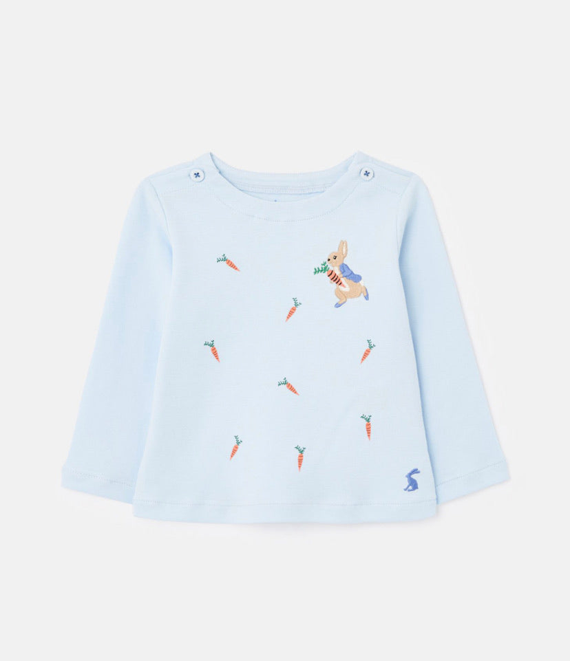 Joules- peter rabbit Angus Artwork top