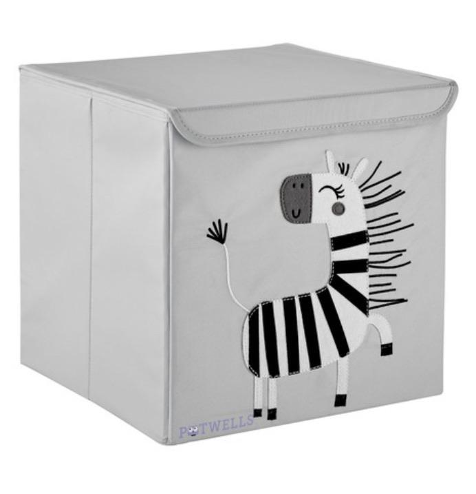 potwells - storage zebra- baby at the bank