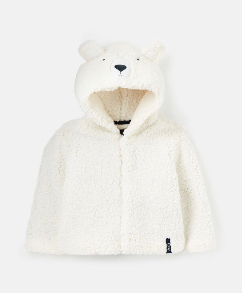 Joules - Cuddle Hooded Fleece White Bear