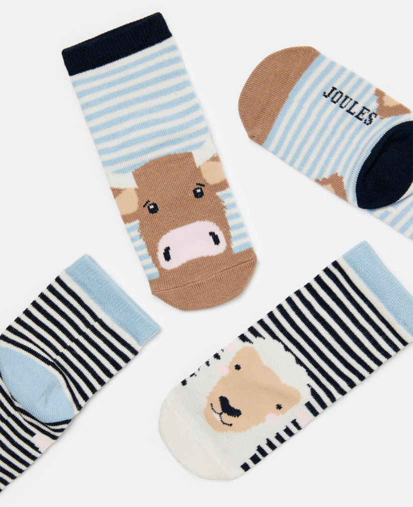 Joules - Neat Feet Multi Cow/Sheep Socks