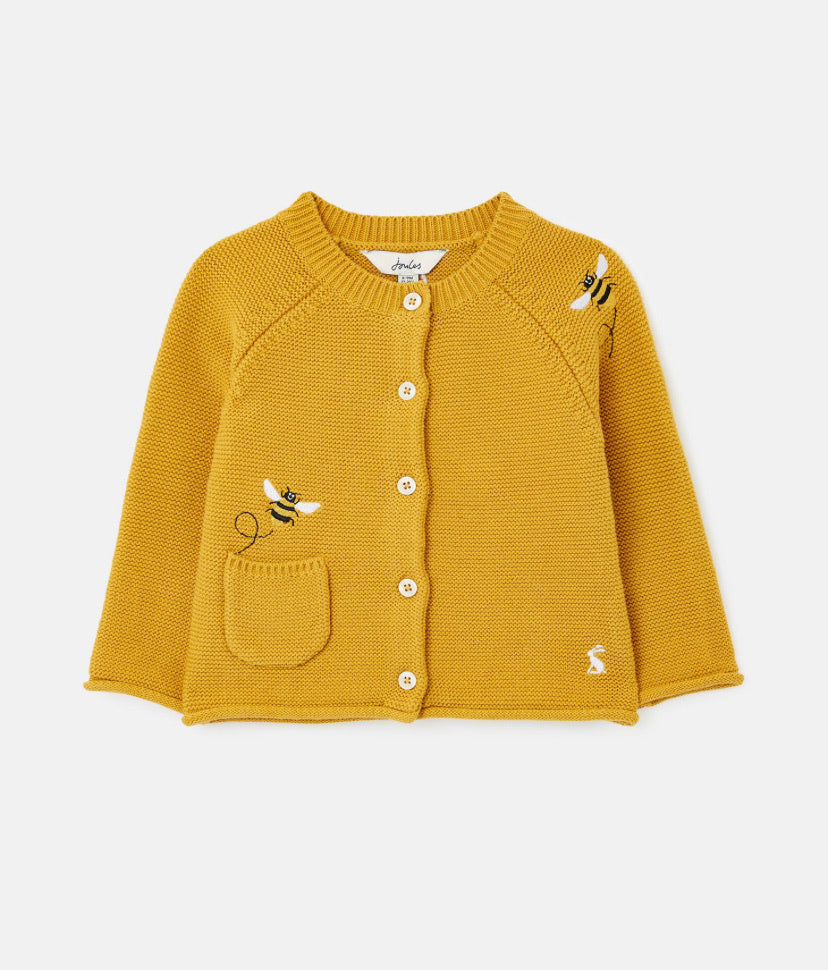 Joules- Betsie embroidered bee cardigan