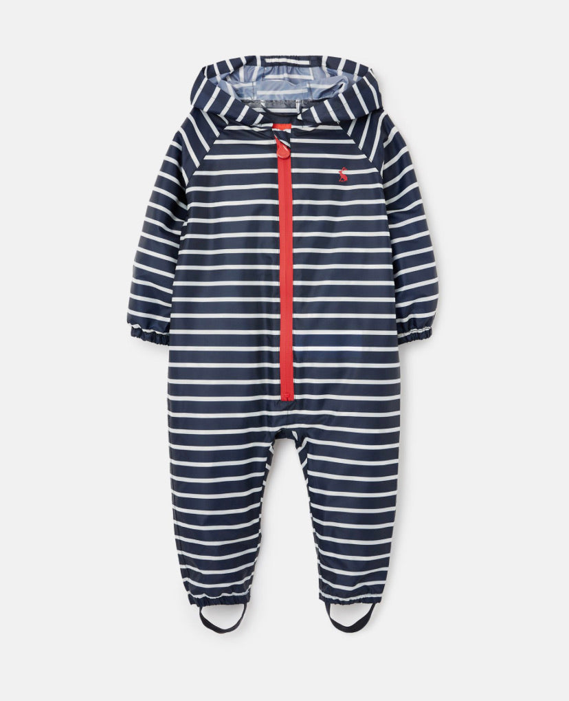 Joules - Waterproof Puddlesuit Navy Stripe
