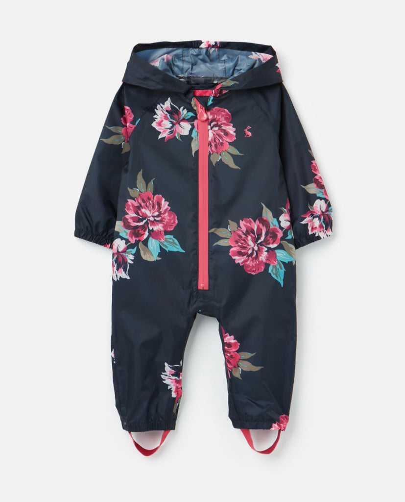 Joules - Waterproof Puddlesuit Navy Floral