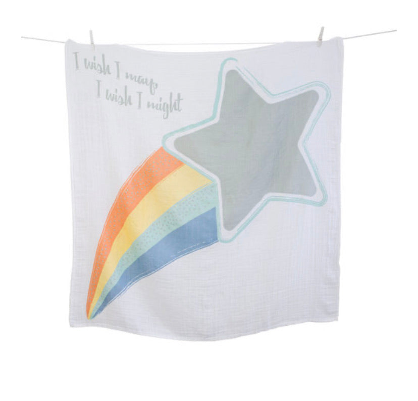 Lulujo - Milestone Card & Blankets Wish Upon A Star