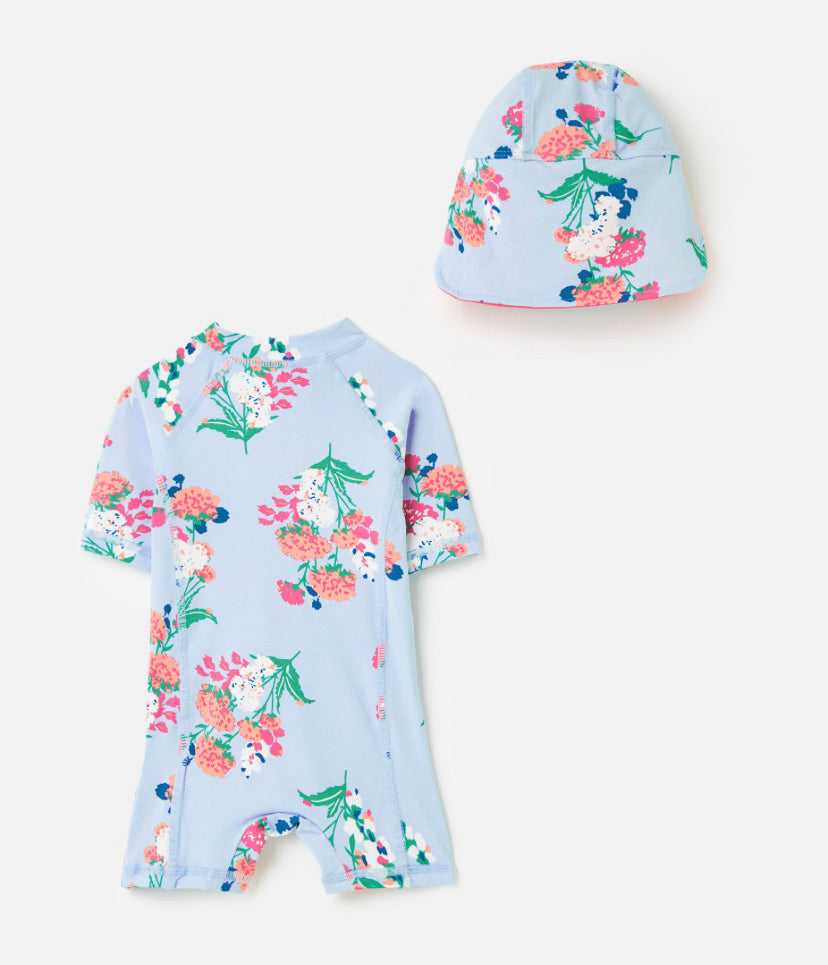 Joules - 2 Piece Swim Set Blue Floral