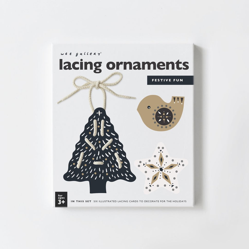 Wee Gallery, Christmas lacing ornamnets