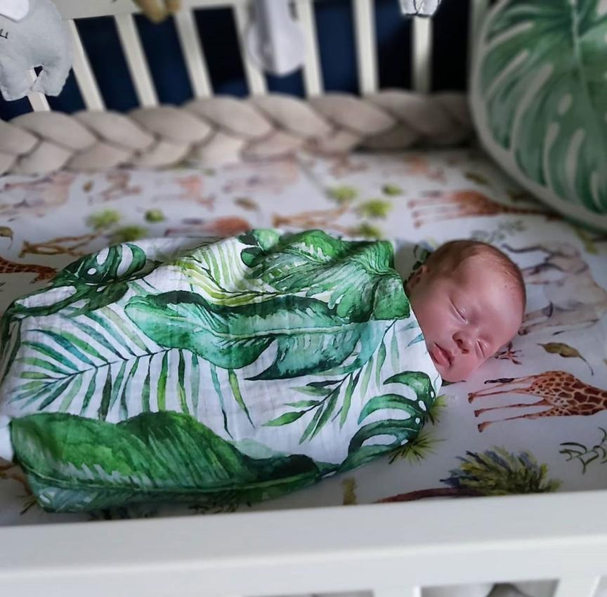 Mama Shack - Large Muslin Swaddle Banana Leaf