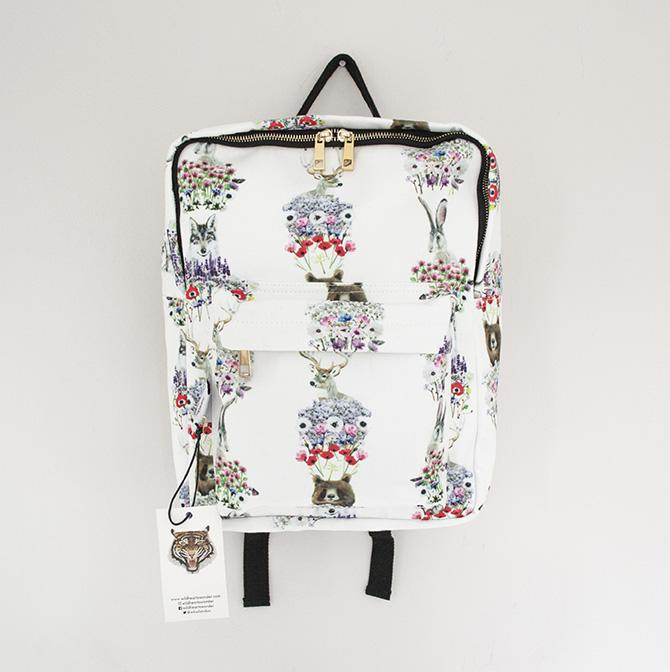 Wild Hearts Wonder - Nordic Animal BackPack - Baby at the Bank