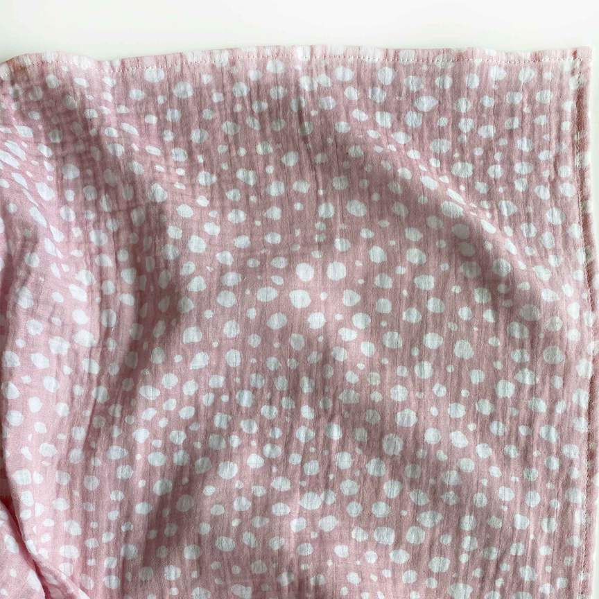Mama Shack - Large Muslin Swaddle Pink Spotty