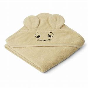 Liewood- Augusta Mouse hooded towel wheat yellow