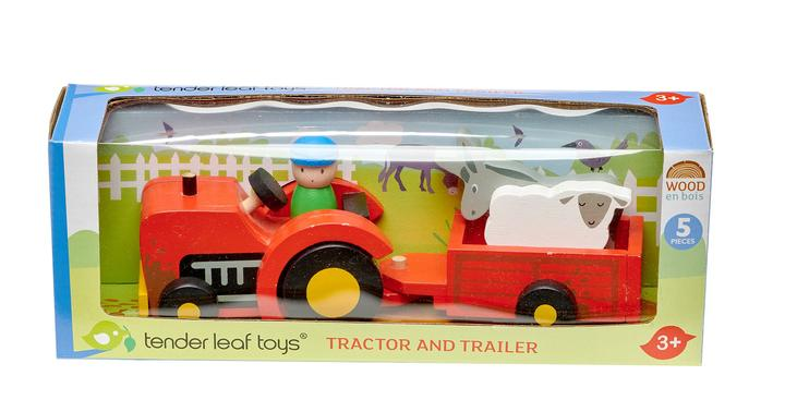 tenderleaf-tractor and trailer set-baby at the bank