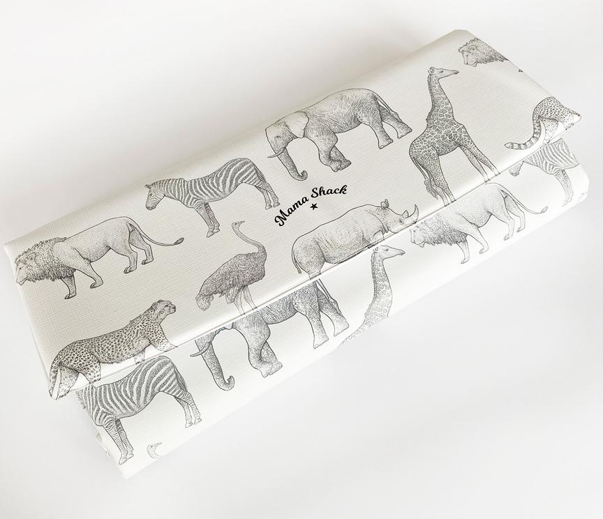 Mama Shack - Travel Changing Mat Mono Safari