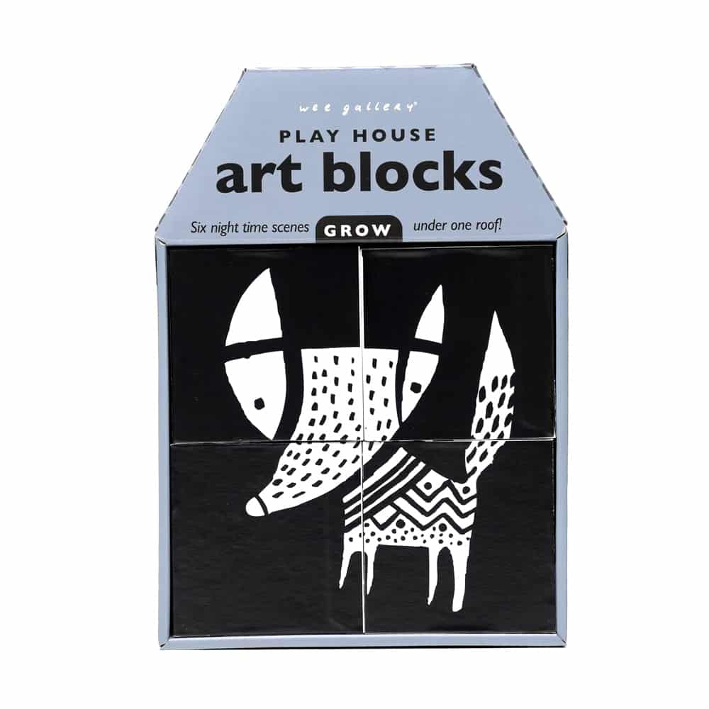 Wee Gallery - Play House Art Blocks Grow Fox