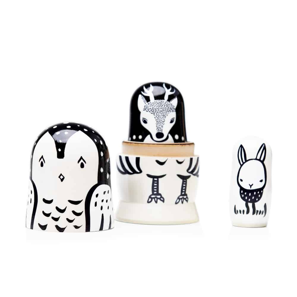 Wee Gallery - Nesting Dolls - Woodland Creatures
