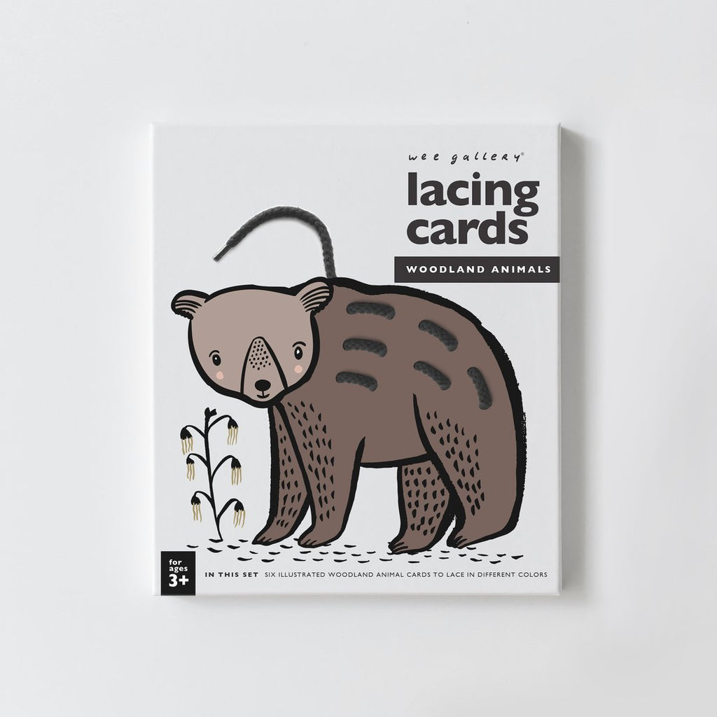 Wee Gallery- Lacing cards, woodland