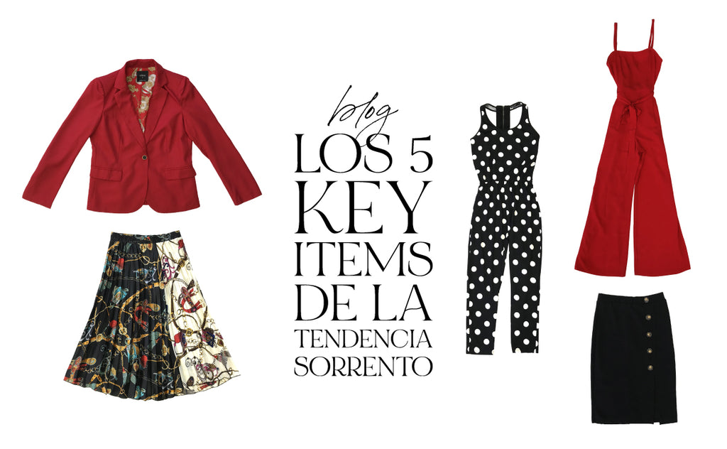 "Los 5 ""key items"" de la tendencia SORRENTO"