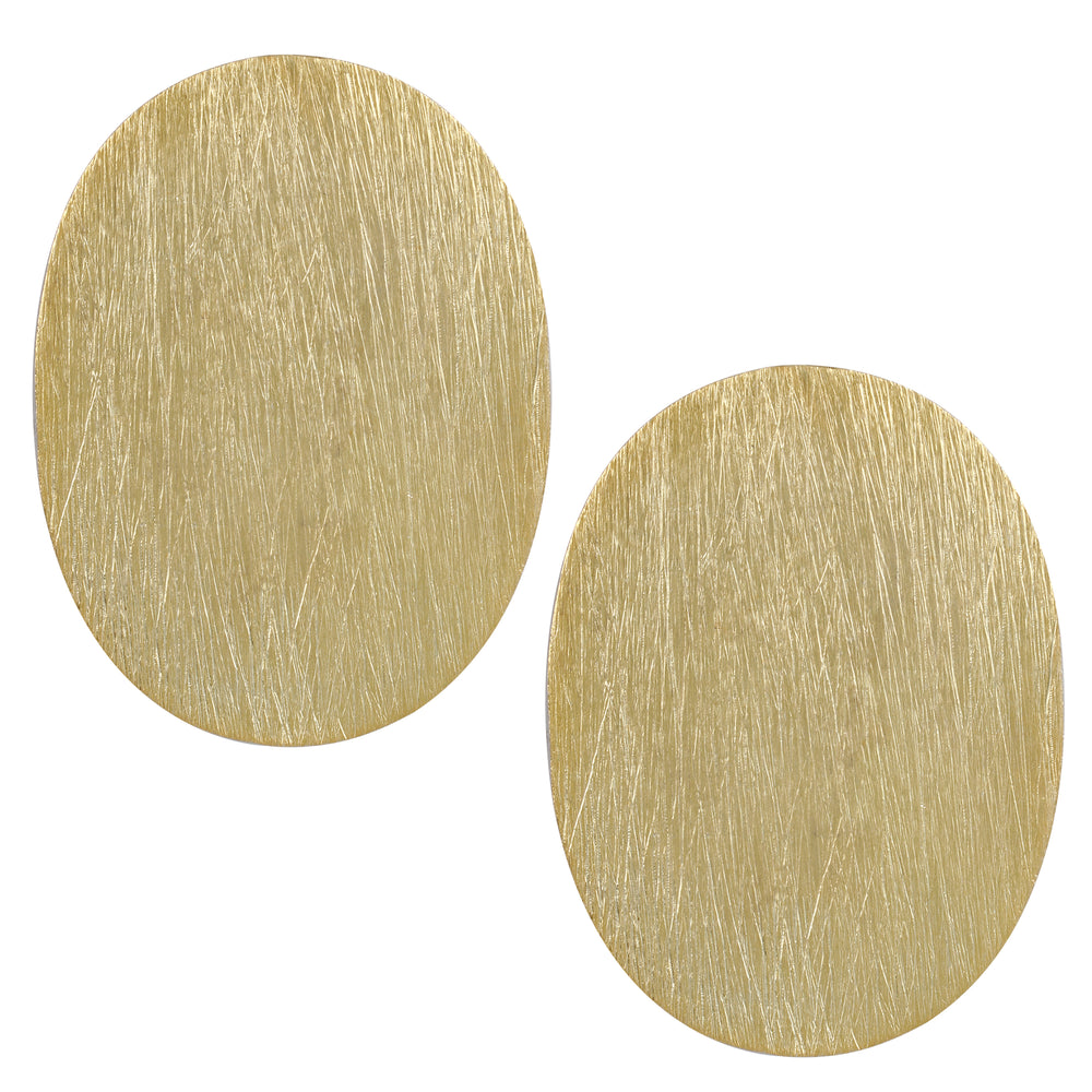 Oval Textured Disc Stud