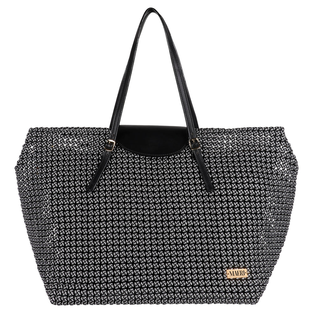 Black & White Disco Solid Tote