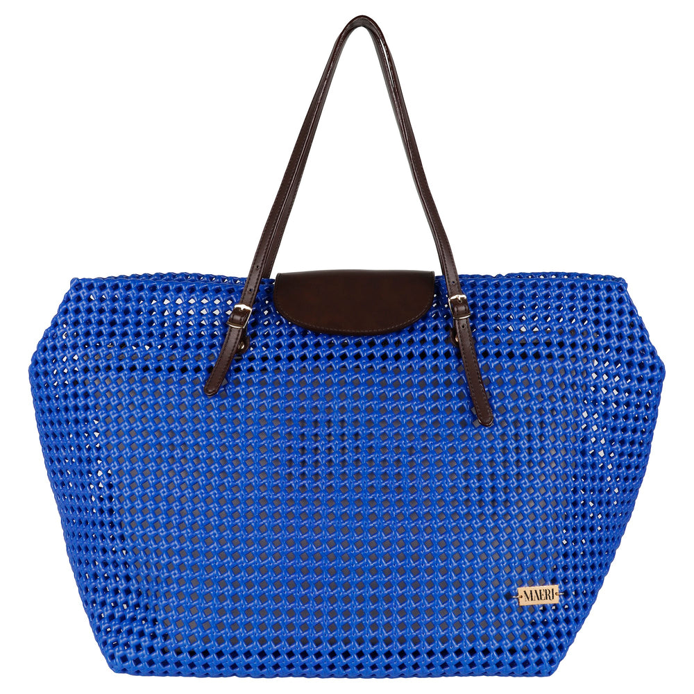 Royal Blue Solid Tote
