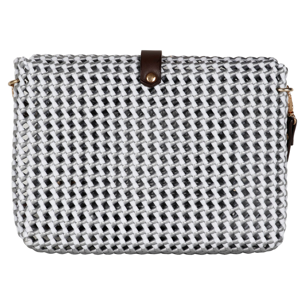 Dark Grey and White Cross Body