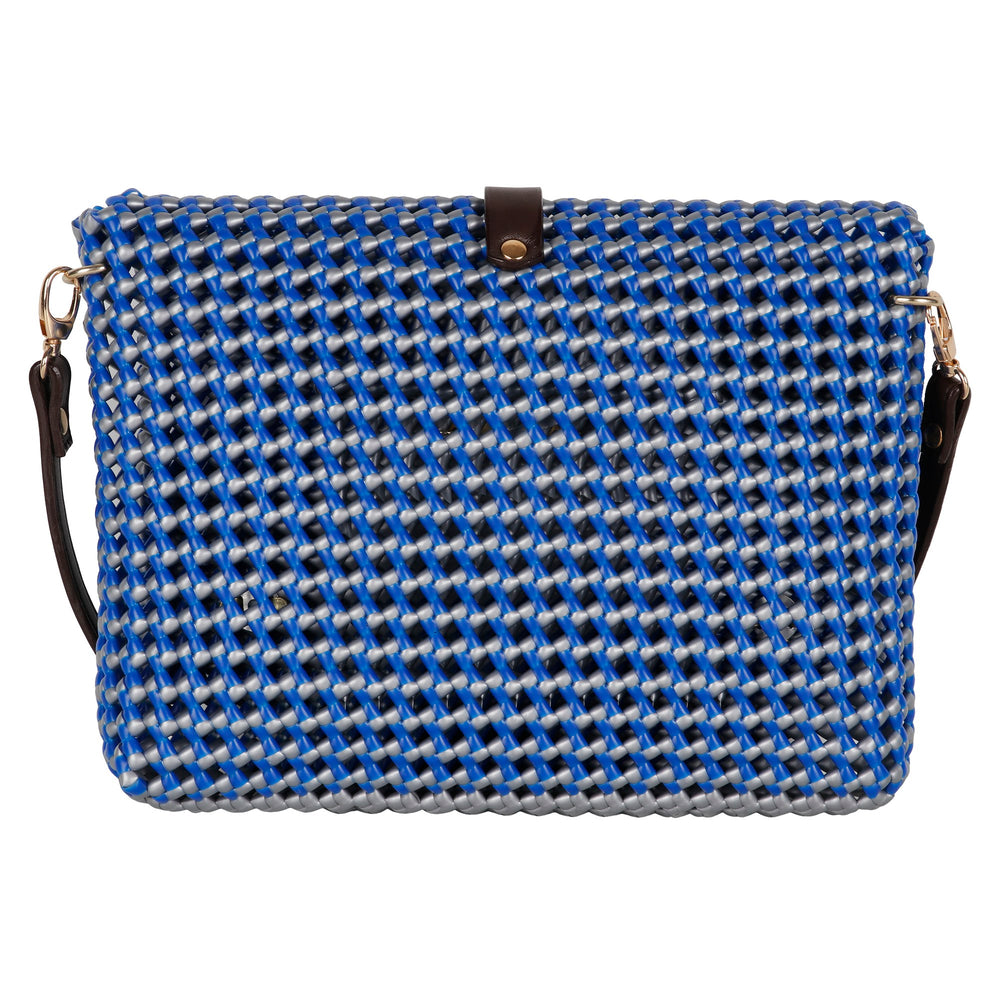 Royal Blue and Dark Grey Cross Body