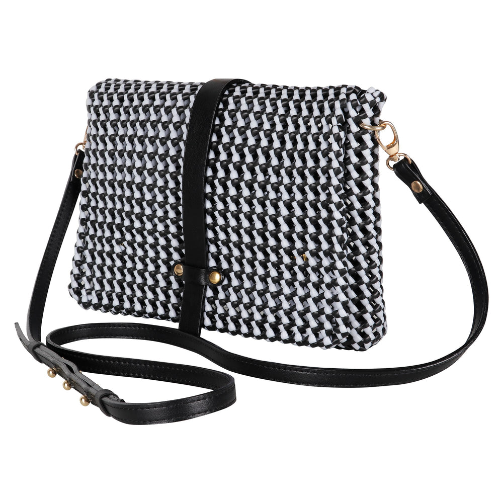 Black and White Cross Body