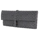 Anka Black & White Disco Clutch