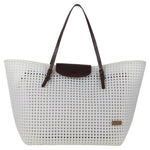 Pearly White Solid Tote