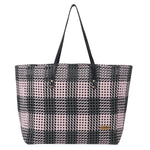White Disco & Black Disco Check Shoulder Tote