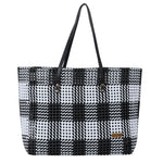 Black & White Check  Shoulder Tote
