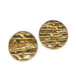 Crumpled Circle Stud Earrings