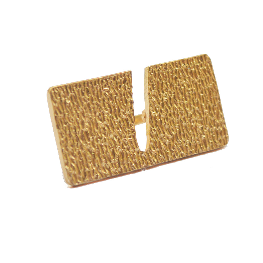 Textured Rectangle Statement Ring