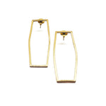 Gold Matte Hollow Geometric Earrings